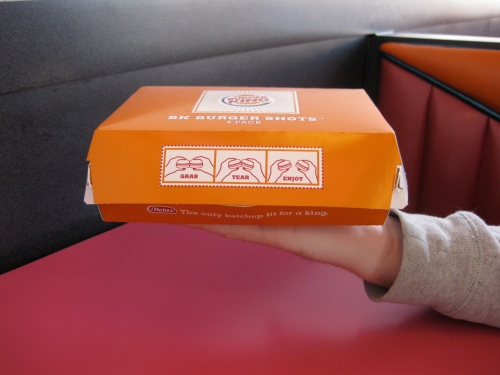 BK Burger Shots 6count Box