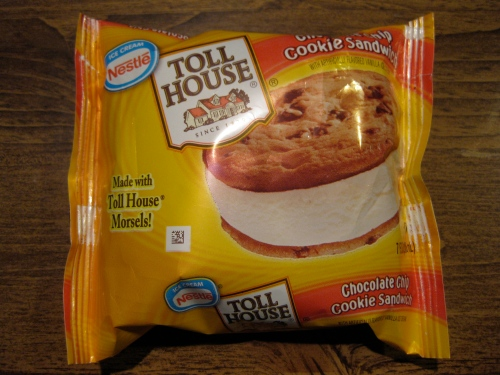 Nestle Toll House Chocolate Chip Cookie Ice Cream Sandwich 1