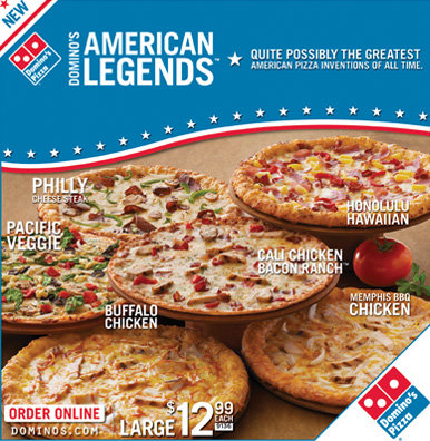 Domino's American Legends Campaign