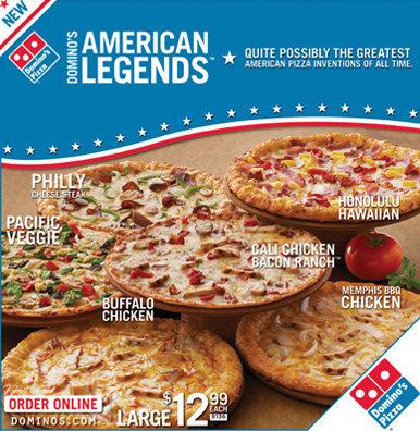 Domino's American Legends Campaign