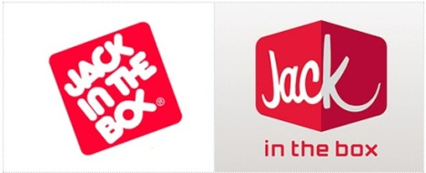 Jack in the Box (Original Logo Left, New Logo Right)