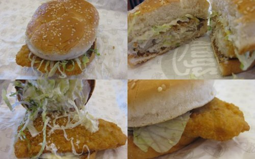 Arby's Fish Sandwich Collage