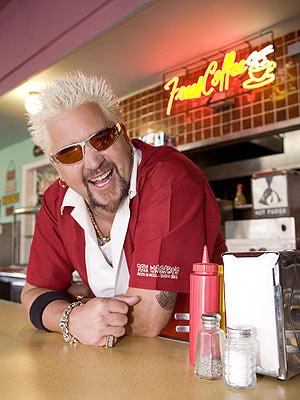 Guy Fieri from Food Network's Diners, Drive-Ins and Dives