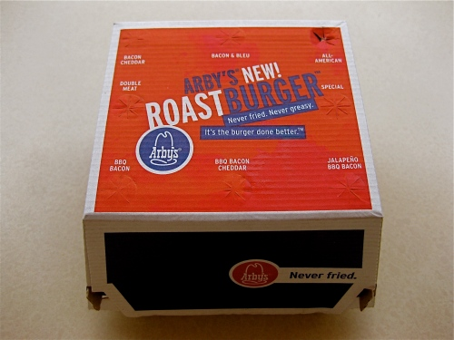 Arby's Roastburger in box