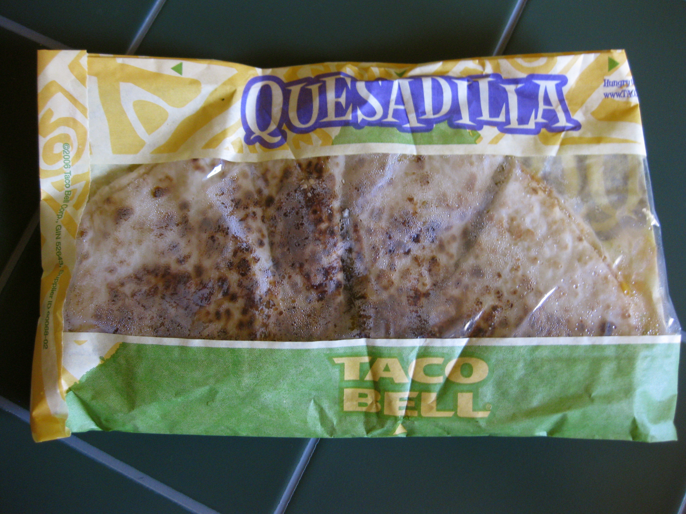 Grande Quesadilla from Taco Bell (wrapper)