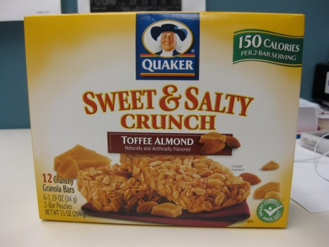 Sweet & Salty Crunch Toffee Almond Granola Bars from Quaker (Box)