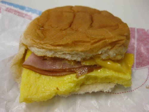 Ham BK Breakfast Shot