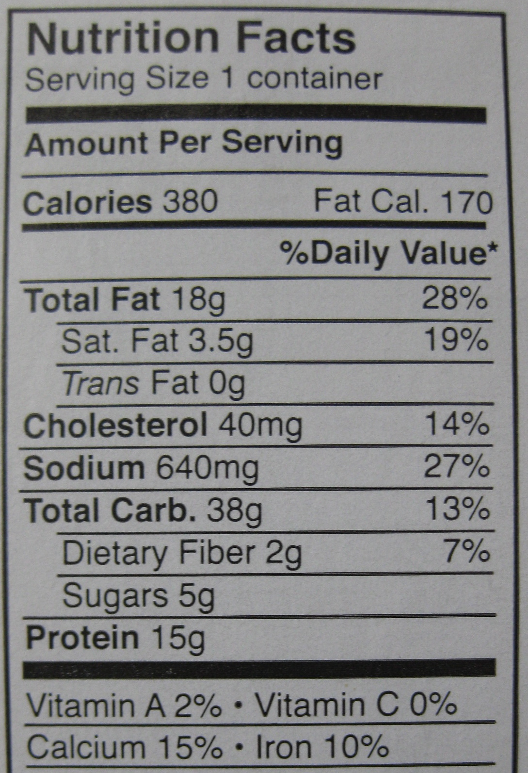 Filet-O-Fish Nutrition Info