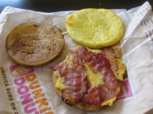 Waffle Breakfast Sandwich from Dunkin Donuts 2