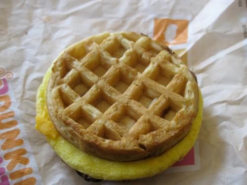 Waffle Breakfast Sandwich from Dunkin Donuts 1