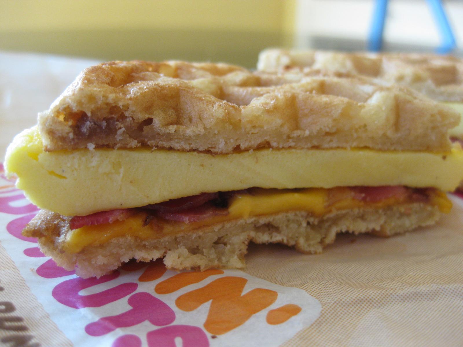 Waffle Breakfast Sandwich from Dunkin Donuts 3