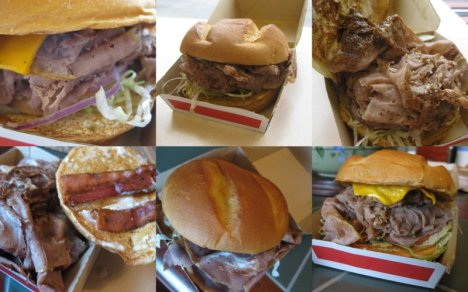 Arby's Roastburgers Collage
