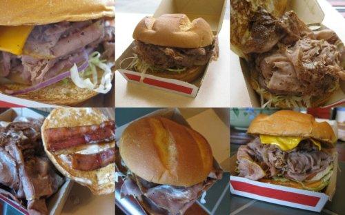Arby's Roastburgers Collage