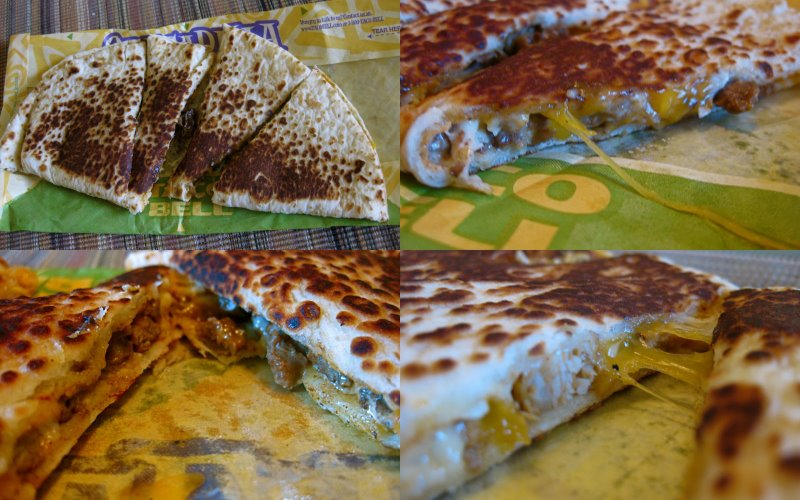 Grande Quesadilla from Taco Bell (collage)
