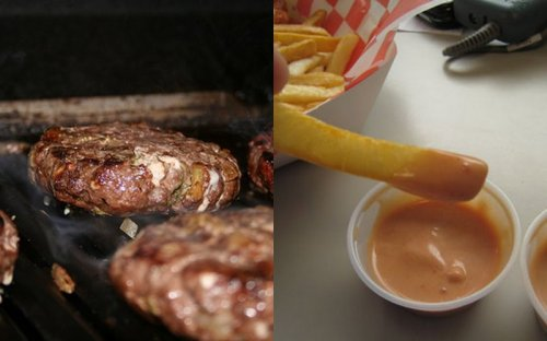 Elk Burger and Fry Sauce
