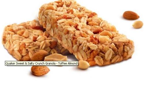Sweet & Salty Crunch Toffee Almond Granola Bars from Quaker