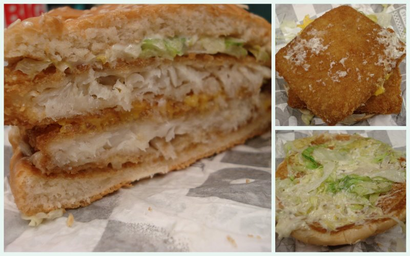 Grubgrade fast food review deep sea double from checkers for Fast food fish sandwich