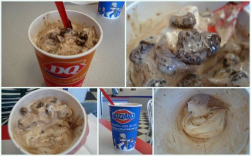 Midnight Truffle Blizzard Collage