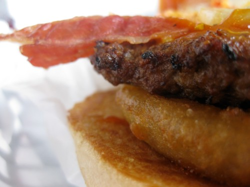 Western Bacon Thickburger from Hardee's (close side)